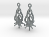Twirldrop3 Earrings 3d printed