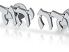 "Hebrew Name Cufflinks - ""Yehudah"" 3d printed"