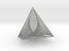 Square Pyramid 1 Curve Stitching 3d printed