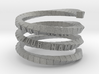 Napkin ring - Block helix 3d printed