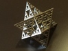 Sierpinski Octostar 3.75cm 3d printed Polished Nickel Steel