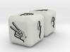 Rock Paper Scissors Dice 3d printed