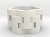 Interlaced Candle Ring 3d printed