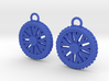 Dirt bike Wheel and Tire Earings 3d printed