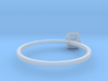 Cube Wireframe Ring 3d printed