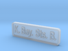 K. Bay. Sts. B. Locomotive Plate 3d printed