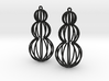 Mod Moire Pearl Earrings 3d printed