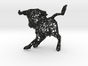 """wall decoration """"Bulls"""" (h:10 cm/4 In) 3d printed"""