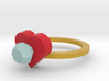 diamond Heart Ring 2 3d printed