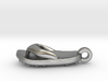 Soccer / football flipflop pendant 3d printed flipflop sandal Raw Silver