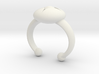Flower Bud Cuff Bracelet 40 mm #1 3d printed