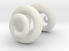 Miniature ram horns for Dollfie 3d printed
