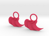 Origami: Curve Fold Earrings 3d printed