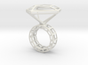 Ring_Diamant_NR3_Groesse_53 3d printed