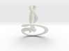 Calla Lily Necklace 3d printed