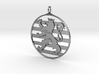 Roude Leiw Pendant - Circle Frame 3d printed