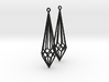 Deco Drop Earrings 3d printed