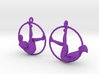 "earrings ""Hoop girl1"" 3d printed"