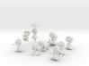 9 Lemmings Complete Set (White and Small) 3d printed