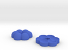 Funky 45 rpm Adapters (Two piece set) - Flower 3d printed