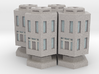 WHAM- Stackable Buildings w/ Rubble x4 (1/285th) 3d printed