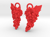 Grapes Earrings 3d printed