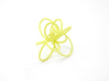 Flora Ring B (Size 8) 3d printed Custom Dyed Color (Key Lime)