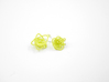 Sprouted Spiral Earrings 3d printed Key Lime Nylon (Custom Dyed Color)