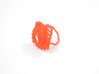 Arithmetic Ring (Size 7) 3d printed Coral Nylon (Custom Dyed Color)
