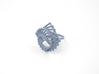 Arithmetic Ring (Size 6) 3d printed Azurite Nylon (Custom Dyed Color)