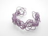 Sprouted Spirals Cuff (Messy) 3d printed Wisteria Nylon (Custom Dyed Color)