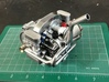 FA10001 Engine for Tamiya Wild One, FAV 3d printed Pic shows engine plus option exhaust fitted to the FAV gearbox (sold separately)