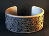 Intertwined Dragon bracelet 3d printed