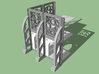 28mm Wargaming Gothic Building (Walls) 3d printed What you can do.