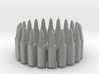 7.62x39 Bullet Round Ring #1, Ring Size 10 3d printed