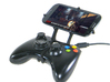 Xbox 360 controller & HTC One X 3d printed Front View - A Samsung Galaxy S3 and a black Xbox 360 controller