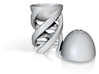 DNA Egg-Cup Sculpture with Salt & Pepper Dispenser 3d printed