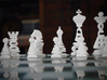 Typographical Chess Set 3d printed Close up of white set