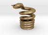 Snake Cigarette Stubber 3d printed Snake Cigarette Stubber in polished gold steel