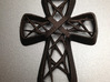 Art Deco Crown of Thorns Cross/ Crucifix Pendant 3d printed