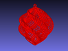 Red/White Shell Christmas Ornament, Small 3d printed