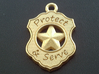 Police Badge Pet Tag / Pendant / Key Fob 3d printed Shown with optional 24-carat gold plating