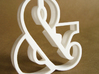 Ampersand typographic cookie cutter 3d printed