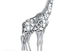 Voronaffe: Voronoi Giraffe with spheres inside 3d printed