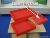 Square Tray Small 1:12 scale 3d printed (actual material Red Strong & Flexible Polished)