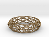 Constructionist Bracelet Sleek in Brass 3d printed