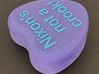 "Candy Heart ""Nixon's not a crook!"" - Purple/Blue 3d printed Top"