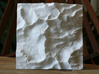 "4'' Mt. Whitney Terrain Model, California, USA 3d printed Top view of 4"" model"