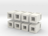 28mm/1:56th rectangular bins set 3d printed