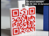 QR-Code tag (18-32 chars) 3d printed